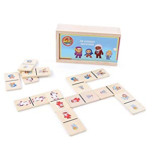 Go Jetters 1179 Dominoes, Madera, Multi