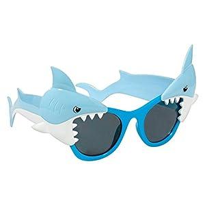 Amscan International-250683hawaiano tiburón diversión Shades (un tamaño)