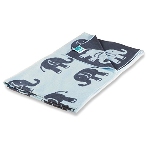 (casa pura Kinderdecke Dumbo mit süßem Elefanten Motiv | Öko-Tex Zertifiziert | Kuschelige Decke aus Baumwolle | Größe wählbar (100x120 cm) Baumwolldecke - Kuscheldecke)