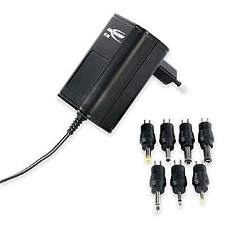ANSMANN APS 300 Universal Stecker Netzteil 12V inkl. 7 verschiedende Adapter Stecker - Netzstecker bis max. 300mA - Netzadapter zur Stromversorgung vieler Elektrokleingeräte von 3-12 Volt regelbar