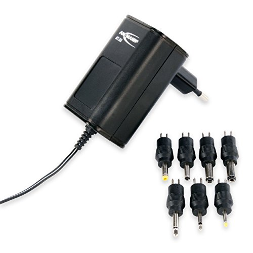 Bloc d'alimentation universel ANSMANN APS 300 / pour multiples appareils électriques de 3 à 12 Volts / utilisable dans le monde entier / livré avec 7 connecteurs interchangeables de sortie différents / jusqu'à 300mA max