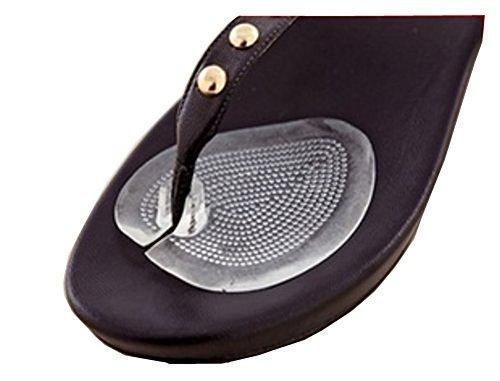 Preisvergleich Produktbild 1 Paar Sandale Zehenschutz,  Kissen,  Silikon selbstklebend Sandale Protektoren Flip Flop Gel Zehenschutz Kissen Vorderfuß Einlegesohlen Pads