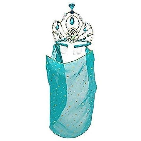Disney Store Princess Jasmine Tiara Crown with Veil Halloween Costume Accessory by Disney Interactive Studios