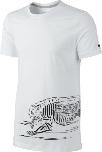 Nike Herren Hemd Cheetah Men's T-Shirt Weiß