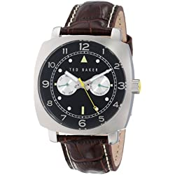Ted Baker Men's TE1106 Sport Stainless Steel Watch with Leather Band