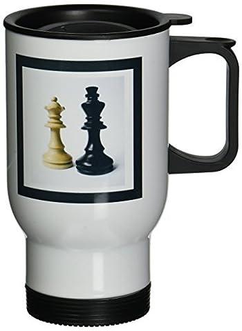 statuear roi et REINE du jeu d'échecs 14-Ounce Tasse de voyage en acier inoxydable