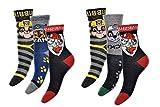 PawPatrol Socken Strümpfe für Jungen mit Marshall, Rocky, Rubble und Chase 6er Pack Neu (23/26)