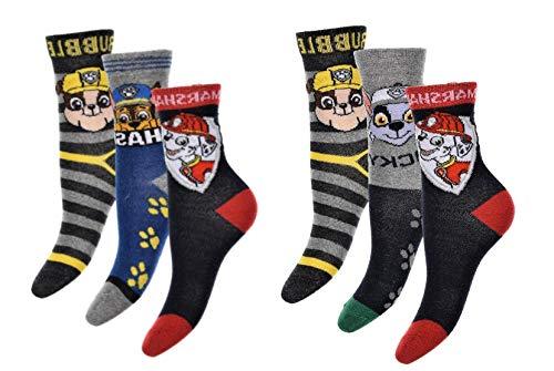 PawPatrol Socken Strümpfe für Jungen mit Marshall, Rocky, Rubble und Chase 6er Pack Neu ()