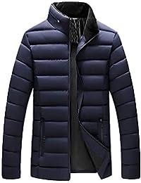 Cinnamou Chaqueta de Algodón para Hombres en Cuello de Solapa Abrigo Ligero de Invierno Prendas Calentar de los Hombre Blusa Tops