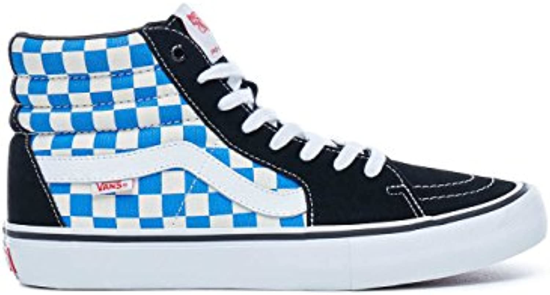 Vans Sk8 Hi Pro (Checkerboard) Black/Victoria Blue  Billig und erschwinglich Im Verkauf