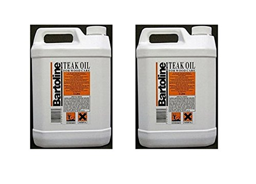 2 x 5 Ltr Bartoline - Teak Oil For Wooden Garden Furniture Oil - 10 Litre