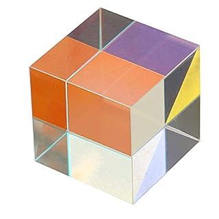 KUNSE 25X25Mm Farbe Kombination Optischer Kreuz Splitter Prisma Quadrat Würfel Lehrmittel