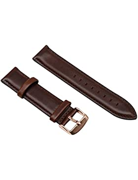 13mm dunkelbraun echtes Leder Uhrenarmbänder Bänder Ersatz seidenmatt lackiert für Mädchen glatte Oberfläche