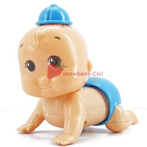 Boy & Girl Cute Windup Crawling Crawl Toy Doll Christmas Gift for Child Baby Kid Boy