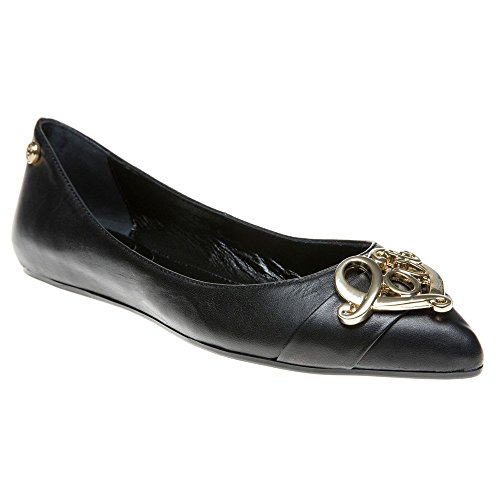 Love Moschino Pointed Ballet Donna Scarpe Nero Nero