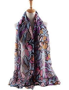 LAIDAGE Las Mujeres Sedosas Bufanda Grande Ricos Colores De Moda De Playa De Gran Tamaño Mantón Del Aire Acondicionado
