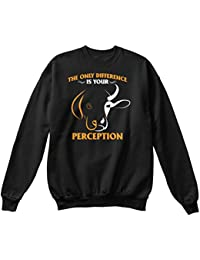 teespring Sudadera Hombre - - The Only Difference is Your Perception T Shirt. Vegan Tshirts