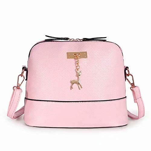 Pferd Kostüm Den Fuß - Bobopai Generic Women Vintage PU Leather Shoulder Bags Shell Model Handbag (25 * 10 * 19cm) (Grey) (Pink)