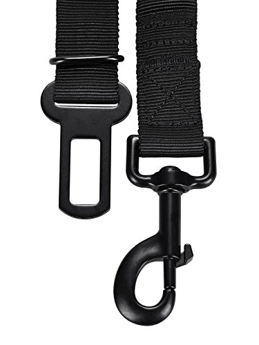 Auto Sicherheitsgurt für Hunde – elastischer Flexi Autogurt Adapter für Hundegeschirr – Verbindungsgurt – Verstellbarer Ruckdämpfer – Sicherheit – Nylon – schwarz – Petloverz - 5