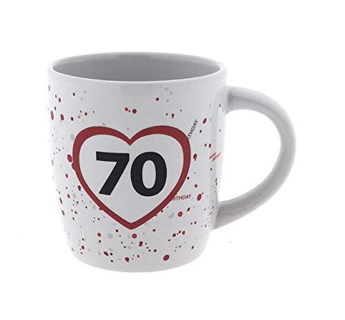 erz und Zahl Geburtstags-Becher Happy Birthday Party Feier Getränke Tisch-Deko-Idee Präsent (Tasse 70) ()