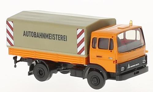 Magirus MK, Autobahnmeisterei , 0, Modellauto, Fertigmodell, Brekina 1:87