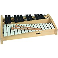 Goldon 11140 platos de sonido metalófono octava - blanco/negro