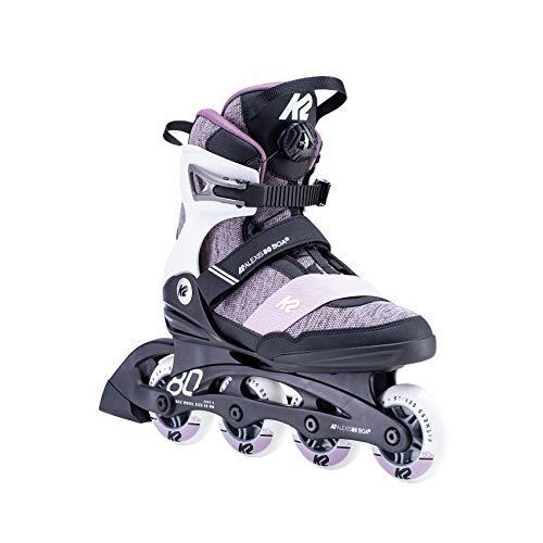 K2 Skates Damen ALEXIS 80 BOA Inline Skates, white-purple, 39.5 EU (6 UK)
