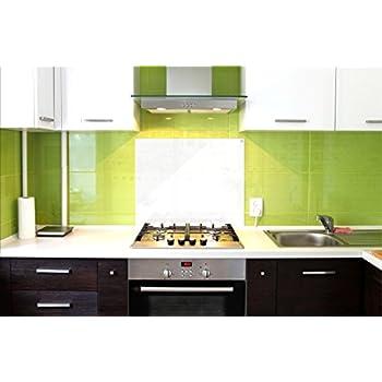 Splash Guard For Kitchen And Stove, Kitchen Glass Splashback, Splash  Protection, 75 X 60 Cm, White, UltraClear ® Glass