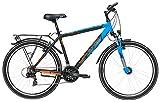 Yazoo Jugend Fahrrad 26 Zoll schwarz/blau Devil 2.6 Jungen Kinderrad - Shimano Kettenschaltung, Nabendynamo