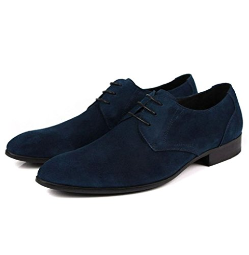 Heart&M Men es kausale Geschäft Wildleder wies Toe Leder Schuhe Skater-Schuhe Blue