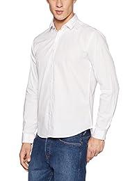 Van Heusen Men's Solid Slim Fit Cotton Casual Shirt - B075QGBR4Y