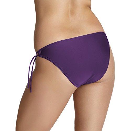 Aquarti Bikini-Hose Seitlich Gebunden Bikinislip Damen Bikini Slip Badeslip Schwarz Weiß Rot Blau Lila