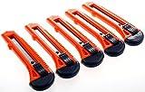 10X Cuttermesser Metallmesser Universalmesser Teppichmesser Klinge Cutter Messer Abbrechklinge Stahlklinge 18mm Orange
