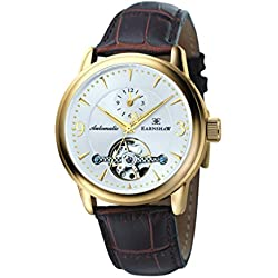 Thomas Earnshaw Regency Men's Automatic Watch with White Dial Analogue Display and Brown Leather Strap ES-8003-04