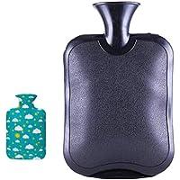 Safe Hot Therapies Warme Hände PVC-Wärmflasche mit abnehmbarem Stoffbezug 2.0 Liter (Schwarz) preisvergleich bei billige-tabletten.eu