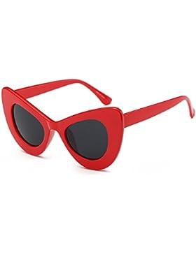 hibote Mujeres Vintage Cateye Eyewear UV40 Oversized Cat Eye Sunglasses