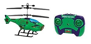 World Tech Toys-Heroes Marvel Hulk Shaped 2ch IR helicóptero, 34890