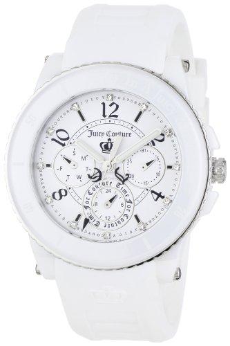 Juicy Couture Women's 1900753 Pedigree White Ceramic Silver-Tone Watch