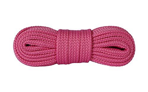 Kaps sneakers lacci, lacci per scarpe durevoli di qualit? per calzature casual, made in europe, 1 paio, molti colori e lunghezze (120 cm - 7 a 9 paia di occhielli - rosa scuro)