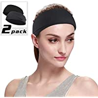 Sports Headband Hairband Sweatband- Headband for Sports, Cycling, Yoga, Face cleaning, Workout, unisex Stretchy headband for both men and women, 2 Pack set