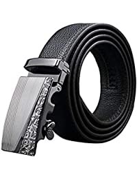 HX fashion Jeans Pour Hommes Authentique Ceinture En Cuir Boucle Tailles  Confortables À Cliquet Automatique Ceinture 886325d5039