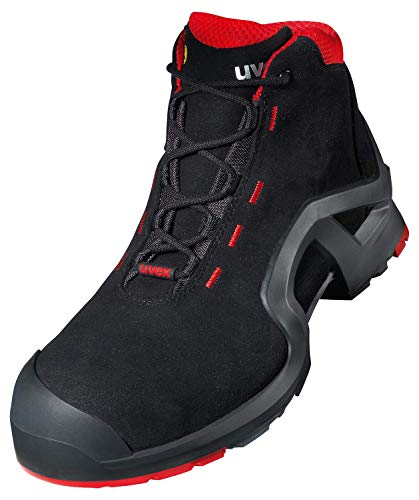 Uvex 1 X-Tended Support Work Boots - Safety Boots S3 SRC ESD - Red-Black