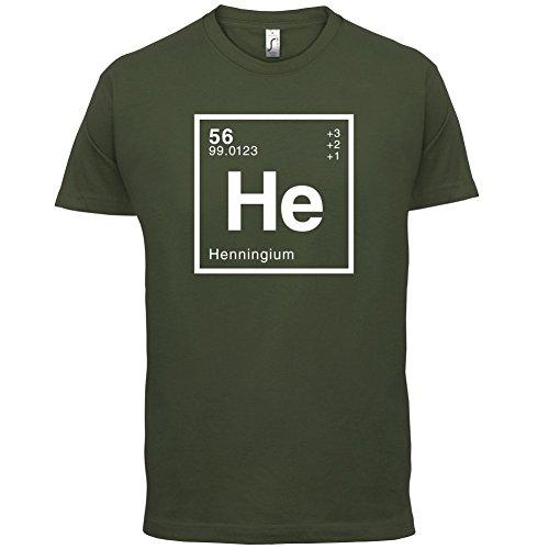 Henning Periodensystem - Herren T-Shirt - 13 Farben Olivgrün
