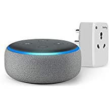 Echo Dot (Grey) Bundle with Oakter 16A smart plug