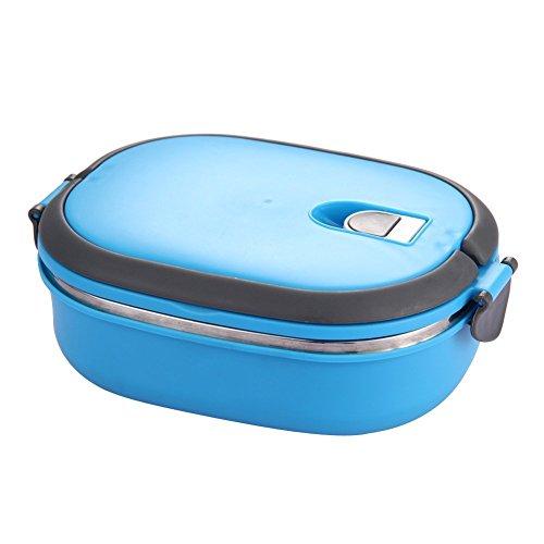 PQZATX Isolierte Lunchbox Edelstahl Lebensmittel Lagerbehaelter Thermo Server Lebensnotwendiges Thermisch (Einschicht, Blau) - Thermo Server