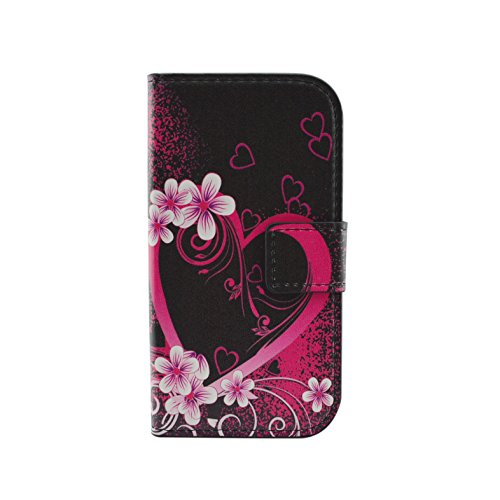 Qiaogle Telefon Case - PU Leder Wallet Schutzhülle Case für Apple iPhone 7 Plus (5.5 Zoll) - HY05 / Colorful Meteor HY13 / Red Love Heart