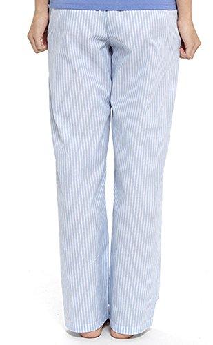 Foxbury - Bas de pyjama - Ensemble pyjama - À Carreaux - Femme rayures bleues
