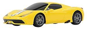 Jamara- Ferrari 458 Speciale A Vehículos de Control Remoto, Color Amarillo (405032)