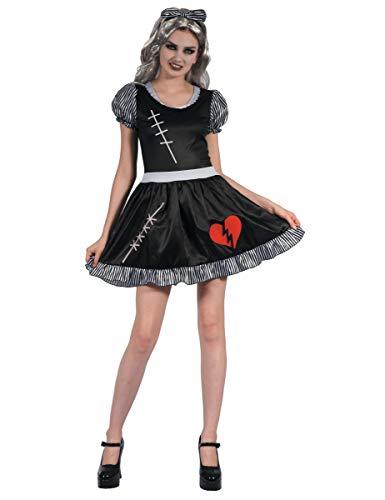 Generique - Ragdoll Puppenkostüm für Damen S (Ragdoll Kostüm)