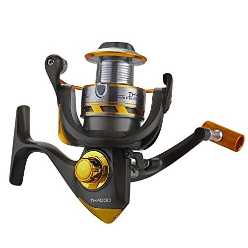 Zhanghanzong -reel Angelrollen Salt Water Rotary Fishing Gear Angelschnur Spinnrad (Color : Black, Size : 2000)